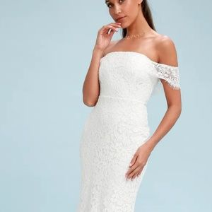 White lacy dress